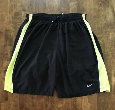 NIKE DRI-FIT LINED RUNNING WORKOUT Athletic SHORTS Mens SMALL S