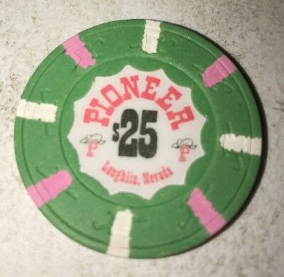 Pioneer Hotel $25 Casino Chip Laughlin Nevada 2.99 Shipping