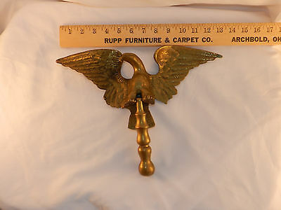 "Vintage Large Eagle Solid Brass Door Knocker 13"" Wide"