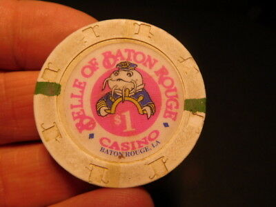 Original obsolete BELLE OF BATON ROUGE CASINO LOUISIANA $1 Casino Chip