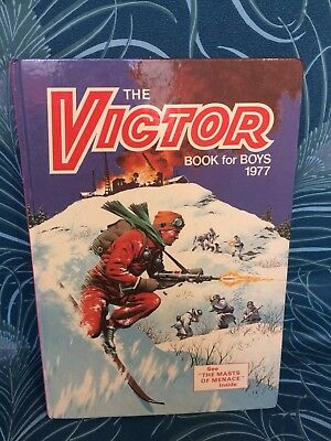 THE VICTOR BOOK for BOYS Annual - 1977 -UK Annual , Fast & Free P+P - Ideal Gift