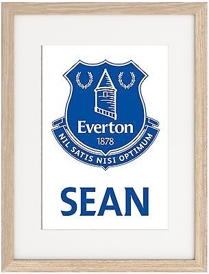 Everton A4 Poster Name Personalised  Premier League Goodison Lukaku Baines