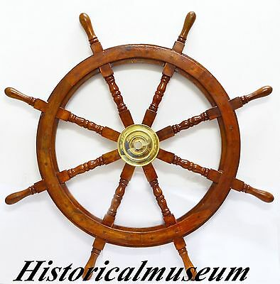 "Sailboat steering wheel ships wheel HM846 vintage nautical 36"" ship wheel"
