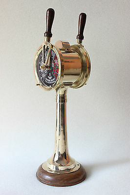 Antiqued Brass Ship Engine Hm996  Room Telegraph -Nautical Gift