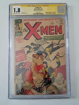 The X-Men #1 (Sep 1963, Marvel) 1.8 CGC Signed By STAN LEE 1st App Of The X-Men