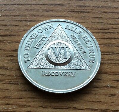 Alcoholics Anonymous 6 Year Medallion .999 Pure Silver