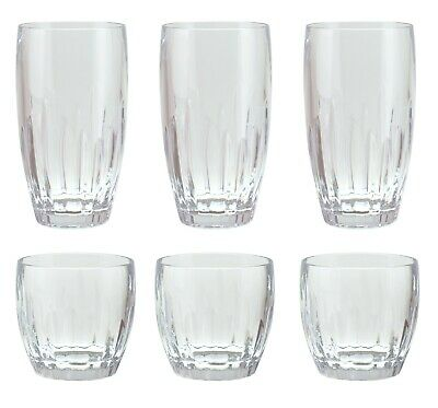 15 & 23 oz Plastic Heavy Weight Iced Tea Cup Wine Glass Tumbler Set of 6 Clear