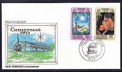 New Hebrides 1973 Christmas First Day Cover
