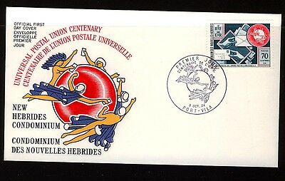 New Hebrides 1974 UPU Centenary First Day Cover