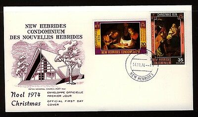 New Hebrides 1974 Christmas  First Day Cover