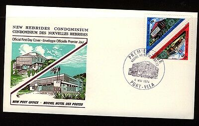 New Hebrides 1974 New Post Office   First Day Cover