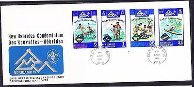 New Hebrides 1975 Scout Jamboree Norway  First Day Cover