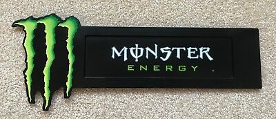 Metal Monster Energy Drink Cooler Suction Cup Sign Store Display