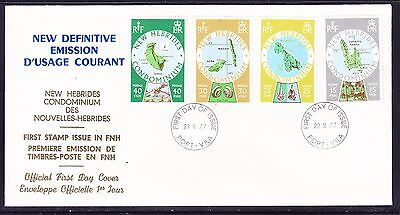 New Hebrides 1977 New Definitives  First Day Cover