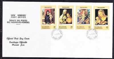 New Hebrides 1978 Christmas  First Day Cover