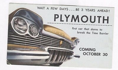 PC 1957 Plymouth Advertisement Automobile Car Torsion-Aire Ride Fury 301 Engine