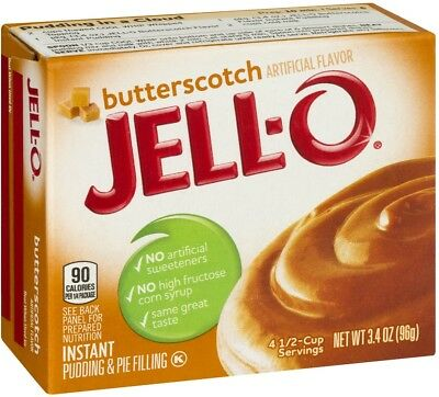 Jell-O Instant Pudding and Pie Filling Butterscotch (2) 3.4 Oz Boxes