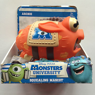 Disney Pixar Monsters University Archie Squealing Mascot Toy Football
