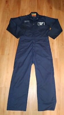 Universal Overall Coveralls Navy Blue Fits Like Size Medium Made In USA scl-i