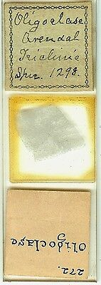 Oligoclase (Triclinie) from Arendal Norway Petrographic Microscope Slide
