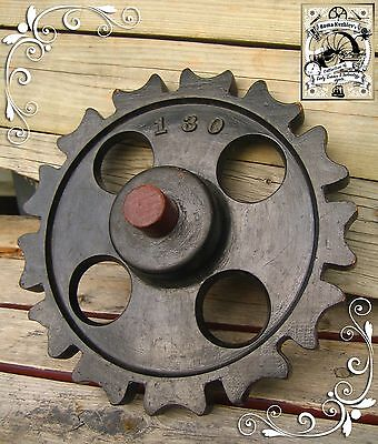 Antique 1890 Wooden Gear Cog Mold Foundry Pattern Victorian Steampunk Wall Art!