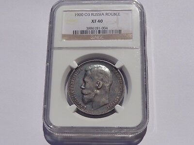 1900 O3 Russia Silver Rouble Ngc Xf-40 Better Date! Super Nice! Must See!!