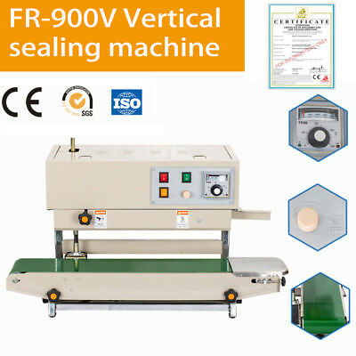 Automatic Vertical Continuous Plastic Bag Band Sealer Sealing Machine FR900V