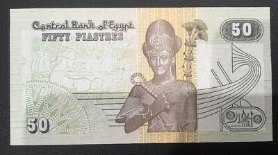 Central Bank Of  Egypt 50 Piastres bank note Unc/a Unc