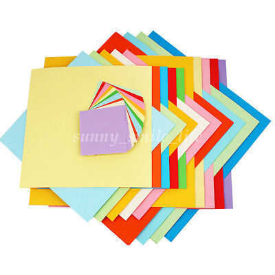 100 Sheets Mixed Assorted Colors Origami Square Papers DIY 7/10/13cm