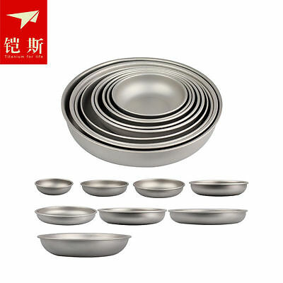 Outdoor Camping Hiking Picnic BBQ Titanium Plate Dish Bowl Tableware 8 Size