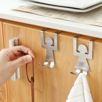Stainless Steel Self Adhesive Hooks Strong Sticky Stick on Wall Door Hooks
