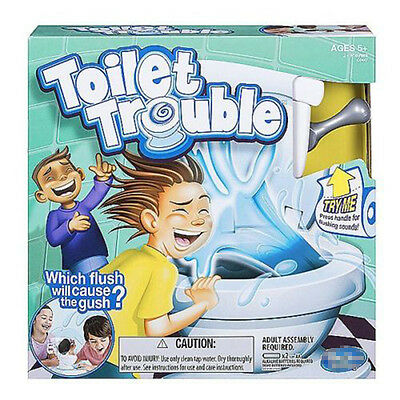 Toilet Trouble Hilarious Game Flush Sound Effects Kids Children Fan & Happy Toys