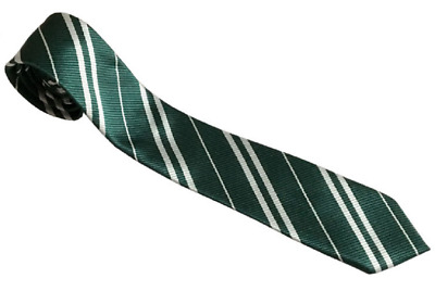 Harry Potter Men Green Tie Costume Accessory Slytherin Cosplay Party Halloween