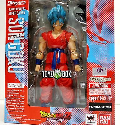 NEW US S.H.Figuarts Super Saiyan God Goku Dragon ball Z DBZ Bandai Action Figure
