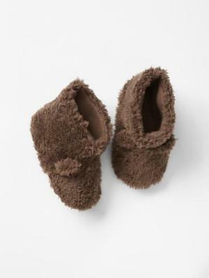 NEW Baby Gap Toddler Girls Boys Unisex Sherpa Bear Booties Slippers Size M 7/8