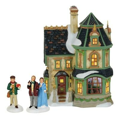 Dept 56 Villages Dickens Village DV Home for the Holidays Set of 3 4059379 NIB