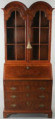 Henredon Georgian Bookcase Secretary Williamsburg Style