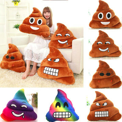 Emoji Cushion Brown Poop Poo Throw Pillow Smiley Toy for WhatsApp Twitter iPhone