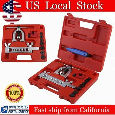 Double Flaring Brake Line Tool Kit Tubing Car Truck Tool with Mini Pipe Cutter X