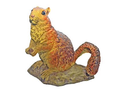 Cute Red Squirrel Statue Ornament Decorative Yard Home Figurine Outdoor Art Lawn