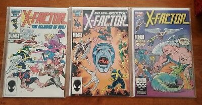 Lot of 3 X-Factor Marvel Comics #5,#6, & #7 1st Apocalypse All First Prints NM!