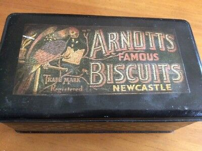 Arnotts Vintage Biscuit Tin with Paper Label Newcastle