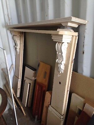 Antique Fireplace Mantle and Shelf