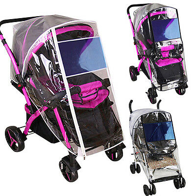 Hot Stroller Rain Cover Baby Pushchair Breathable Windproof Protector Universal