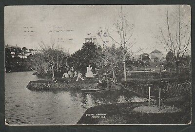 e425)   EARLY WESTERN AUSTRALIA PERFECTION SERIES POSTCARD:QUEENS GARDENS, PERTH