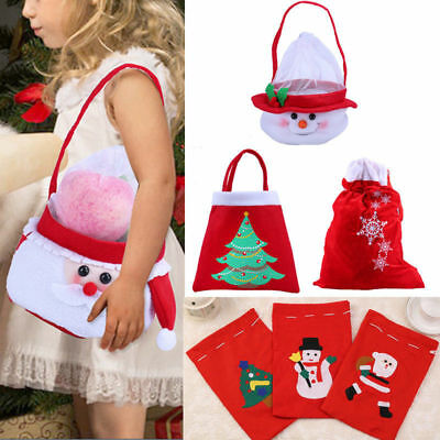 Christmas Party Supplies Xmas Tree Snowflake Pattern Candy Gift Bag for Children