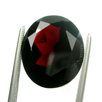 8.76 carats 14x10mm Oval Cut Natural Garnet Dark Red Colour Loose Gemstone
