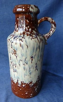 Retro Vintage West German Lava Vase By Scheurich, 407-35, Rare Glaze, 35cm tall