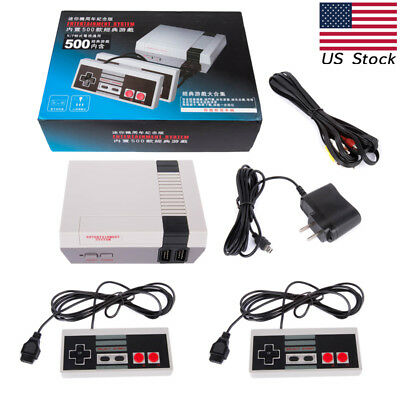 Retro Classic Game Console NES TV Built-in 500 Games w/2Controllers Set#