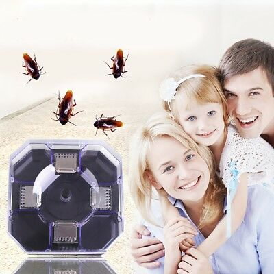 Cockroach Trap Pest Control Bug Insect Killer Catcher Roaches Capture Container